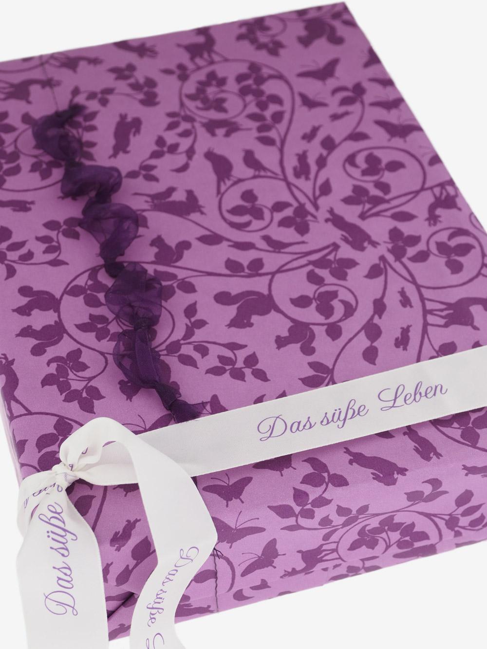 geschenkpapier lavendel motiv bl tterwald in flieder sonderpreis. Black Bedroom Furniture Sets. Home Design Ideas